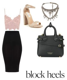 """Untitled #14"" by lesliii on Polyvore featuring Topshop, Steve Madden, Burberry and RadÃ"