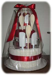 Towel cake. Good for house warming's or wedding gift.