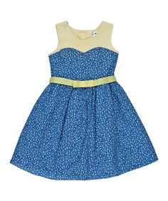 Another great find on #zulily! Navy Floral Dress - Toddler & Girls by Joe-Ella #zulilyfinds