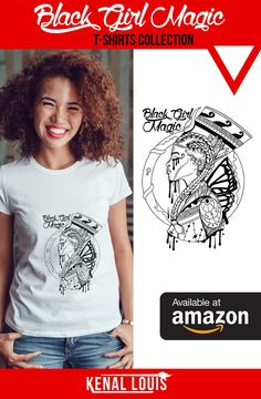 The Black Girl Magic shirt artworks were created by visual artist Kenal Louis. The artworks are all part of an ongoing Afrocentric art series. Inspired by black culture and Afrofuturism. All Rights Reserved Kenal Louis. (Black Girl Magic T-shirts, Black Girl Magic Shirt, Black Girl Magic Art) Visit kenallouis.com for more t-shirts and art like these. #africanamericanart #blacktshirts #afrocentric #blackartwork #blackart #blackgirlart #blackgirlmagic Black Girl Art, Black Girl Magic, Afrocentric Clothing, Cool Graphic Tees, Black Artwork, Magic Art, Art Series, African American Art, Black Artists