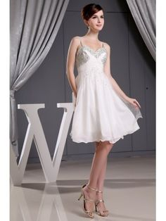 A-line Sweetheart Short Tulle Wedding Dress With Beading