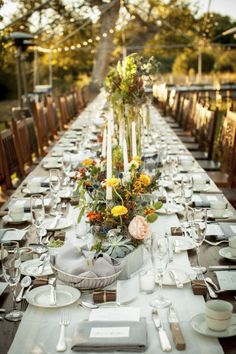 #tablescapes outdoor garden reception |  Photography by amaranthweddingphotography.com |  Event Planning by imonievents.com |  Floral Design by azpetalpusher.com |   Read more - http://www.stylemepretty.com/2013/06/26/arizona-wedding-from-amaranth-wedding-photography-imoni-events/