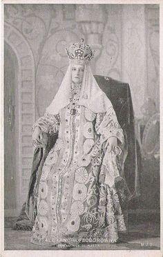 Empress Alexandra Feodorowna of Russia in old russian costume