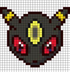 Umbreon Head Perler Bead Pattern | Bead Sprites | Characters Fuse Bead Patterns