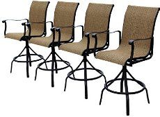 175 Each 4 699 Outdoor Slingback Swivel Bar Stools Perfect For Entertaining Outside