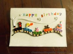 boy birthday quilled card - Google Search