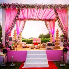 wedding Mandap where you will be circling with your groom around pious Agni (fire) and taking your vows of eternity of getting together forever on every path. The Mandap in your wedding is a pious place, the most pious in Indian weddings. Desi Wedding Decor, Wedding Mandap, Outdoor Wedding Decorations, Wedding Poses, Wedding Table, Diy Wedding, Wedding Ideas, Table Decorations, Funny Wedding Invitations