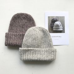 Half price on Grayson Hat this weekend. No coupon needed. Let's make some Grayson Hats! Beanie Knitting Patterns Free, Knitting Stitches, Knitting Designs, Knitting Yarn, Knitting Projects, Crochet Projects, Easy Knit Hat, Knitted Hats, Winter Knit Hats