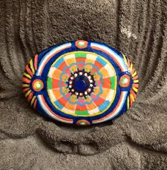 """Grounding"" Mandala rock - acrylic on stone"