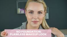 Some days it is great to wear NO FOUNDATION and I wanted to share with you my tips for getting the skin flawless without it. I also complete the looks with s. Sommer Make-up Looks, Beauty Tutorials, Flawless Makeup, Summer Makeup, My Beauty, Makeup Looks, Foundation, Beauty Products, Natural