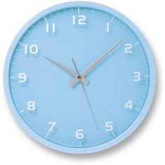 Nine Wall Clock in Light Blue design by Lemnos ($120) ❤ liked on Polyvore featuring home, home decor, clocks, fillers, decor and light blue home decor