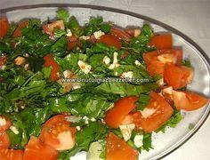 Roka Domates Salatası Seaweed Salad, Roka, Salads, Pasta, Ethnic Recipes, Crafts, Diy, Manualidades, Bricolage