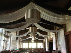 Ceiling Drape with Twinkle Lights Pink Monkey Solutions | Vail, Colorado | Denver, Colorado