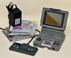 """It's a fairly well-known fact that I fancy the portable PC Engine--branded the """"PC Engine LT"""" because it folds up like a laptop--that the ba. Nintendo 3ds, Retro Video Games, Retro Games, What Would You Rather, Turbografx 16, Portable Console, Video Game Decor, Pc Engine, Penny Arcade"""