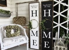Farmhouse Frames, Farmhouse Signs, Farmhouse Style, Farmhouse Front, Farmhouse Decor, Style Cottage, Porch Wood, Front Porch Signs, Front Porches