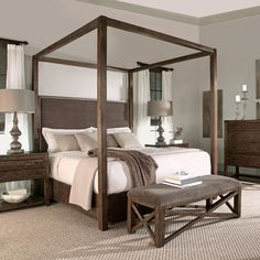 Bernhardt | Elements Canopy Bed (335-457, 335-458, 335-459)