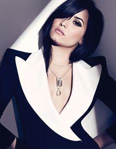 Demi Lovato wears Alexander McQueen inside her FASHION Magazine cover shoot.