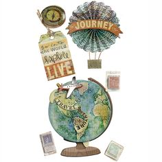 Jolee's Boutique® | Map Medallion Stickers