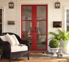 Red doors...perfect amount of color.