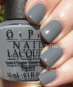 The PolishAholic: OPI Fifty Shades of Grey Collection Swatches & Review  Embrace the Gray