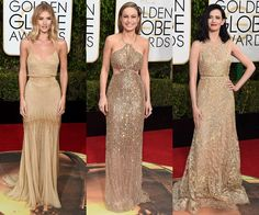 Golden Globes Go for gold! Golden Globes 2016, Formal Wear, Formal Dresses, Going For Gold, Luxury Dress, Get The Look, Special Events, Gowns, How To Wear