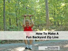 How To Make A Fun Backyard Zip Line