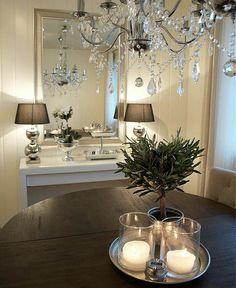 Songe mirror and ikea desk