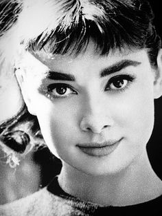 My favorite thing about Audrey? her eyebrows! I love a strong eyebrow. It ads so much dimension to the face! Unfortunately I don't think I'll ever have them.