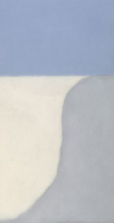 Susan Vecsey, Untitled (Gray/Blue Vertical), 2014 Oil on linen