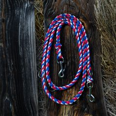 Flag color leash, Adjustable reflective dog leash, Hands-free braided paracord dog leash, Durable leash
