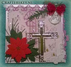 Crafter's Key: Christmas Card With Cross. Marianne Design Lr0252 Lr0269 Lr0181 Lr0121 Lr0270 Memory Box Die 98968 Nellies Choice Interlace Border Ild004 Joy!Crafts 6002/2010 6002/0136  6002/2030 6002/2031 Precious Marieke Pm10014