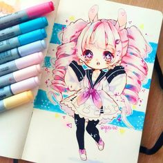 """22.6k Likes, 159 Comments - Yuni✧*。 (@yuniiho) on Instagram: """"I deleted my last work because i think that is better like this. Sometimes i draw because i want to…"""""""