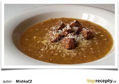 Cibulačka s krutonky recept - TopRecepty.cz