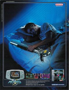 Ad for Metroid Fusion. metroid, metroid fusion, game boy advance, nintendo, advert