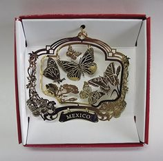 MEXICO Butterfly Brass Christmas ORNAMENT  - The Monarch Migration to Mexico