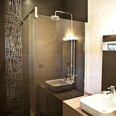 aménagement décoration salle de bain gris