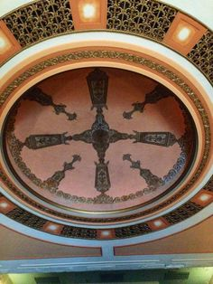 Possibly the single most exquisite feature of the State Theatre is the dome which has been completely restored. The State Theatre was one of the very first theaters specifically designed for talkies and this spectacular dome was acoustically designed for that purpose. You just want to stand there and look up until your neck hurts. Photo taken March 4, 2015.