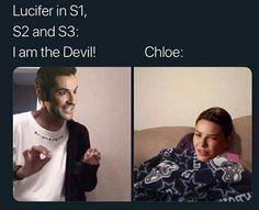 Lucifer 3, Tom Ellis Lucifer, Best Memes, Funny Memes, Hilarious, Jokes, Funny Shit, Morning Star, Film Serie