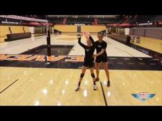 Emily Hiza - Volleyball Setter Footwork Drill - Art of Coaching VB - YouTube