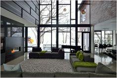 grey brick light grey stucco contemporary - Google Search