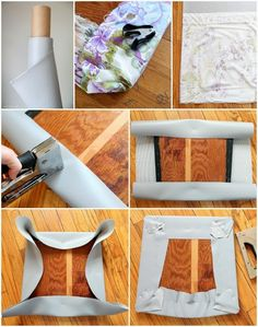 chair cushion makeover using durable Marine Vinyl sold at Joanns..EVERYTHING you need to know about Stripping, Painting, and Recovering your dining chairs! Get step-by-step instructions and the best product...