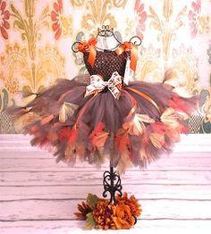 Girls Posh Little Thanksgiving Harvest Baby Girl Couture Tutu Dress