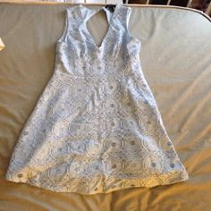 Forever 21 dress Light blue lace dress from Forever 21. Keyhole back. Never worn, missing tags. Forever 21 Dresses