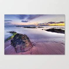 West Coast Sunset. Stretched Canvas by F Photography and Digital Art - $85.00