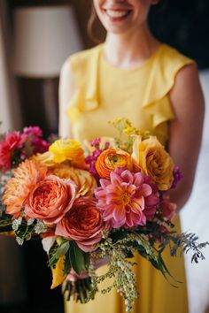 If you are trying to make a classy, but elegant statement with your wedding, you should really consider a bouquet … Orange And Pink Wedding, Orange Wedding Flowers, Summer Wedding Colors, Bridal Flowers, Floral Wedding, Lilies Flowers, Flower Colors, Flower Ideas, Purple Wedding