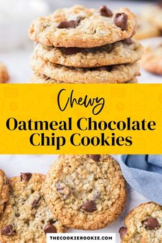 Oatmeal cookies are never a bad idea, and when they are made with chocolate chips and honey they are irresistible! These chewy oatmeal cookies are perfectly sweet and make a great snack. #oatmealcookies #cookierecipe #chewycookies #snack