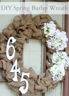 Like the idea of the address numbers on the burlap wreath.