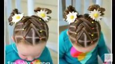 Easy Hairstyles With Little Rubber Bands Braid - cascading weaved elastics, little girl hairstyle Easy Toddler Hairstyles, Side Ponytail Hairstyles, Easy Little Girl Hairstyles, Cute Hairstyles For Kids, Cute Girls Hairstyles, Trendy Hairstyles, Hairstyles 2016, Short Haircuts, Teenage Hairstyles