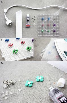 DIY Hama Bead Earrings