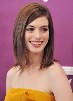 Anne Hathaway medium length hairstyle